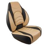Springfield Fish Pro High Back Folding Seat - Charcoal\/Tan