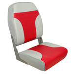 Springfield High Back Multi-Color Folding Seat - Red\/Grey