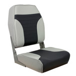 Springfield High Back Multi-Color Folding Seat - Grey\/Charcoal