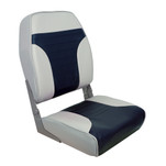 Springfield High Back Multi-Color Folding Seat - Blue\/Grey