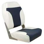 Springfield High Back Multi-Color Folding Seat - White\/Blue