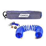 Camco 40 Coiled Hose  Spray Nozzle Kit