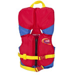 MTI Infant Life Jacket w\/Collar - Red\/Royal Blue - 0-30lbs