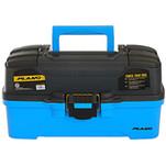 Plano 3-Tray Tackle Box w\/Dual Top Access - Smoke  Bright Blue