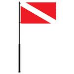 """Mate Series Flag Pole - 72"""" w\/Dive Flag"""