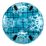 "Aqua Leisure 43"" Pipeline Sno Clear Top Racer Sno-Tube - Cool Blue Plaid"