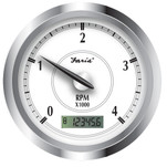 "Faria Newport SS 4"" Tachometer w\/Hourmeter f\/Diesel w\/Magnetic Take Off - 4000 RPM"