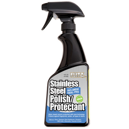 Flitz Stainless Steel Polish\/Protectant - 16oz Spray