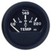 """Faria Euro Black 2"""" Cylinder Head Temperature Gauge (60 to 220 F) with Sender"""