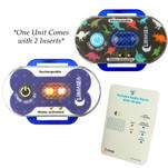 Lunasea Child\/Pet Safety Water Activated Strobe Light w\/RF Transmitter - Blue Case, Blue Attention Light