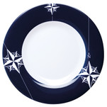 "Marine Business Melamine Non-Slip, Flat, Round Dinner Plate - NORTHWIND - 10"" Set of 6"
