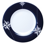 """Marine Business Melamine Round Dessert Plate - NORTHWIND - 7"""" Set of 6"""
