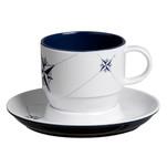Marine Business Melamine Tea Cup  Plate Breakfast Set - NORTHWIND - Set of 6