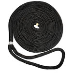 "New England Ropes 1\/2"" X 15 Nylon Double Braid Dock Line - Black"