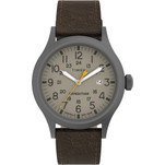 Timex Expedition Scout - Khaki Dial - Brown Leather Strap