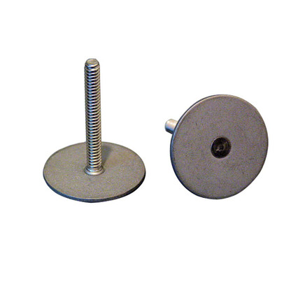 """Weld Mount Stainless Steel Stud 1.25"""" Base 10 x 24 Threads 1.00"""" Tall - 15 Quantity"""