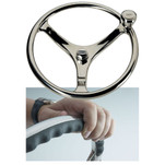 "Edson 14.5"" SS Comfort Grip Steering Wheel w\/PowerKnob"