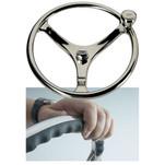 "Edson 14.5"" SS Comfort Grip Steering Wheel w\/PowerKnob"