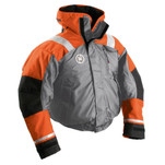 First Watch AB-1100 Flotation Bomber Jacket - Orange\/Grey - Medium