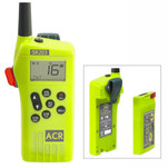 ACR SR203 GMDSS Survival Radio w\/Replaceable Lithium Battery & Rechargable Lithium Polymer Battery & Charger