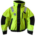 First Watch Hi-Vis Flotation Bomber Jacket - Hi-Vis Yellow\/Black - Large