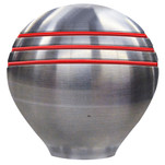"Ongaro Throttle Knob - 1-1\/2"" - Red Grooves"