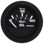 Faria Euro Black Oil Pressure Gauge - 100 PSI