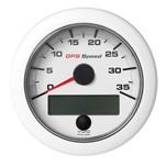 """VDO 3-3\/8"""" (85mm) OceanLink GPS Speedometer 0-35 - White Dial  Bezel"""