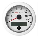 """VDO 3-3\/8"""" (85mm) OceanLink GPS Speedometer 0-14 - White Dial  Bezel"""