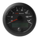 "VDO 3-3\/8"" (85mm) OceanLink GPS Speedometer 0-14 - Black Dial  Bezel"