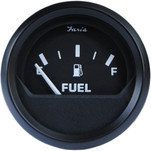 "Faria 2"" Fuel Level Gauge Metric - Euro Black"