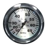 "Faria 4"" Speedometer (65 MPH) Pitot - Spun Silver"