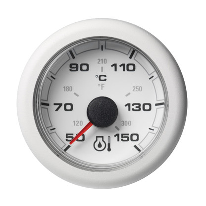 "VDO Marine 2-1\/16"" (52mm) OceanLink Engine Oil Temperature 150 C \/ 300 F - White Dial  Bezel"