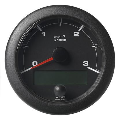"VDO Marine 3-3\/8"" (85mm) OceanLink Tachometer 3000 RPM - Black Dial  Bezel"