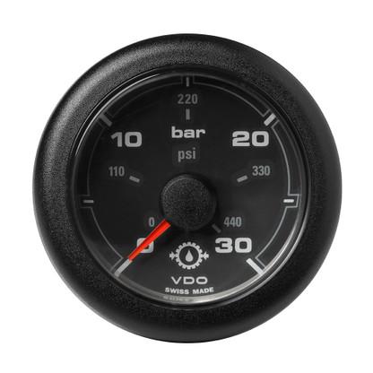 """VDO Marine 2-1\/16"""" (52MM) OceanLink Transmission Oil Pressure Gauge - Black Dial  Bezel"""
