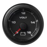 """VDO Marine 2-1\/16"""" (52MM) OceanLink Battery Voltage Gauge (8 to 16V) Black Dial  Bezel"""