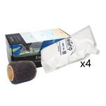 "KiwiGrip 4 - 1 Liter Pouches - White w\/4"" Roller"