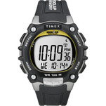 Timex Ironman Traditional 100-Lap - Black\/Silver\/Yellow Watch