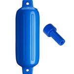 "Polyform G-4 Twin Eye Fender 6.5"" x 22"" - Blue w\/Air Adapter"