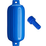 "Polyform G-5 Twin Eye Fender 8.8"" x 26.8"" - Blue w\/Air Adapter"