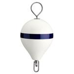 "Polyform Mooring Buoy w\/SS 13.5"" Diameter - White Blue Stripe"