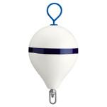 "Polyform Mooring Buoy w\/Iron 17"" Diameter - White Blue Stripe"