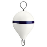 "Polyform Mooring Buoy w\/SS 17"" Diameter - White Blue Stripe"