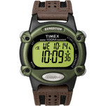 Timex Expedition Mens Chrono Alarm Timer - Green\/Black\/Brown