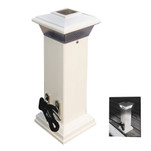 Dock Edge Cleatlite Solar Dock Light w\/SS Mooring Cleat 12""
