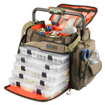 Wild River FRONTIER Lighted Bar Handle Tackle Bag w\/5 PT3700 Trays