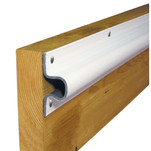"Dock Edge ""C"" Guard PVC Dock Profile - (4) 6' Sections - White"