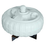 "Dock Edge Inflatable Dock Wheel - 18"" - White"