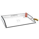 "Magma Bait\/Filet Mate Serving\/Cutting Table - 20"" White\/Black"