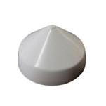 "Monarch White Cone Piling Cap - 10.5"""